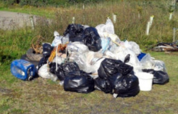 Example of Fly Tipping in Leeds